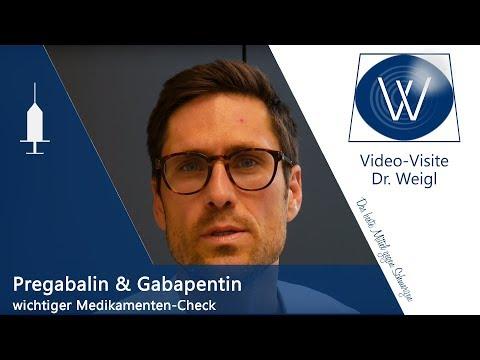 Medikamente Pregabalin, Gabapentin & Carbamazepin bei Schmerzen - Antikonvulsiva/ Antiepileptika