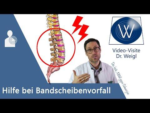 Bandscheibenvorfall (Prolaps) - Diagnose & Therapie (Übungen, Operation) beim Bandscheibenvorfall