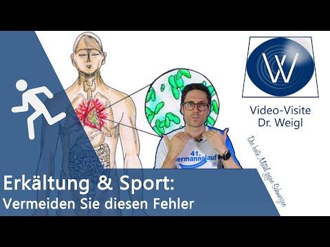 Ist Sport bei Erkältung, Schnupfen & Husten möglich? 😷 Tödliche Gefahren fürs Herz: Myokarditis 👆