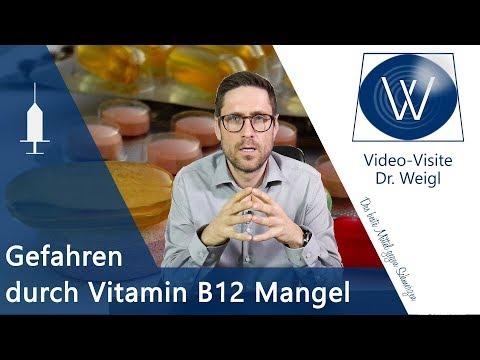 Vitamin B12 Mangel - Anzeichen, Symptome & Mythen rund um Krankheiten & Lebensmittel mit Cobalamin