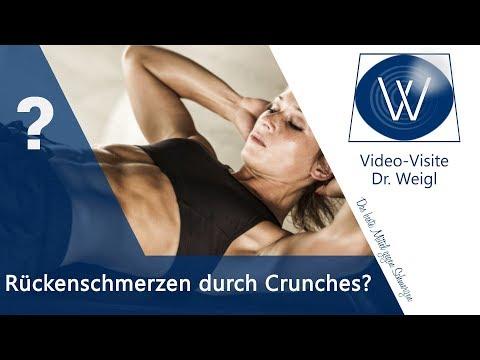 Rückenschmerzen durch Crunches❓Wie schädlich sind Bauchübungen & Bauchtraining für unteren Rücken❓🤔