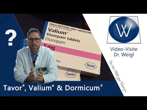Droge oder Medikament? Im Check: Benzo Tavor (Lorazepam), Valium (Diazepam) & Dormicum (Midazolam)
