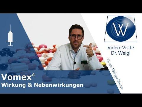 Weniger Übelkeit mit Vomex (Dimenhydrinat)🤔❓ Antiemetikum & Antihistaminikum: Nebenwirkungen