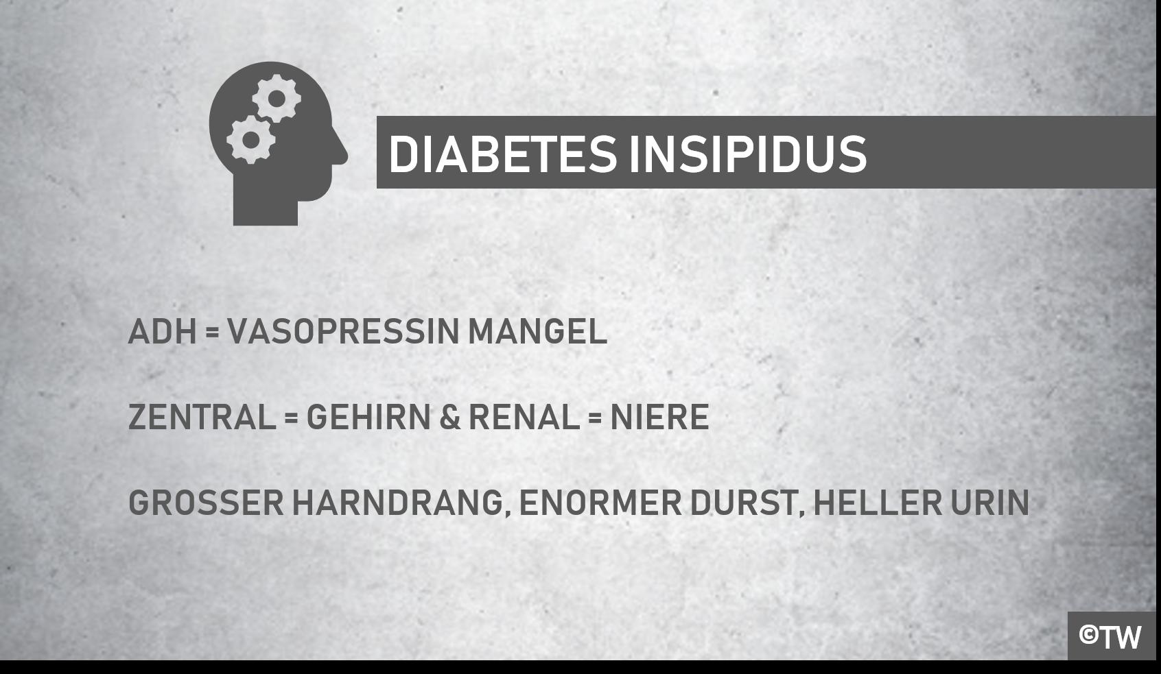 vermehrte urinausscheidung diabetes insípida
