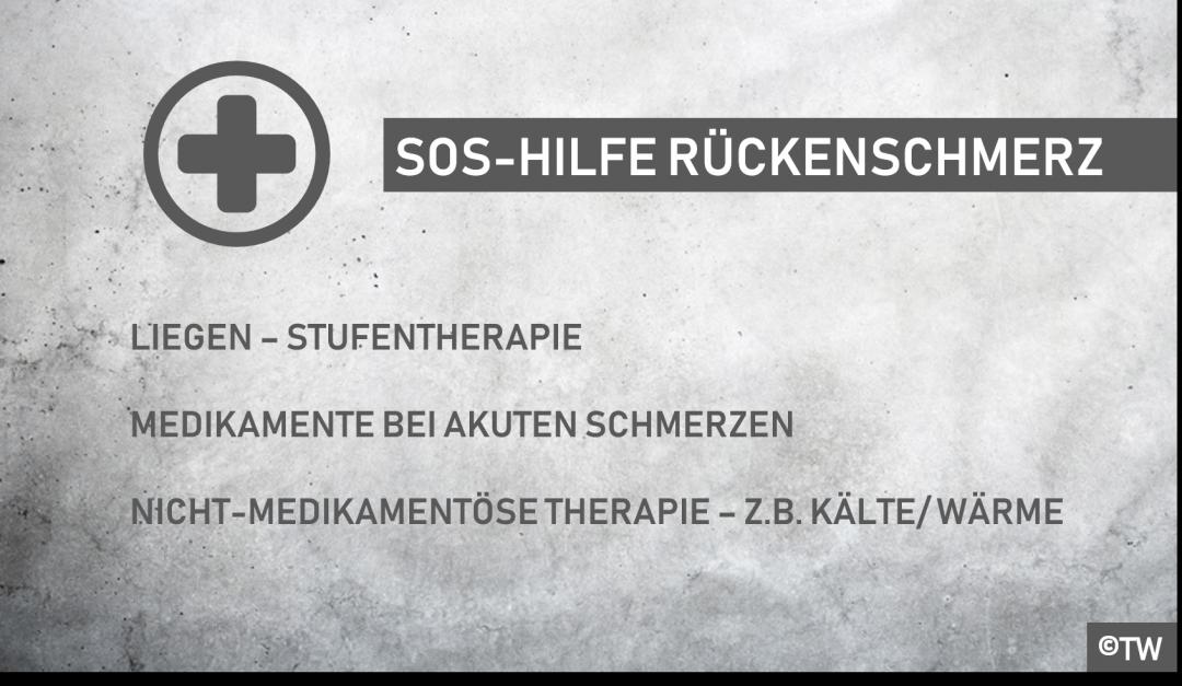 DoktorWeigl.de erklärt: SOS Übungen bei akuten Rückenschmerzen