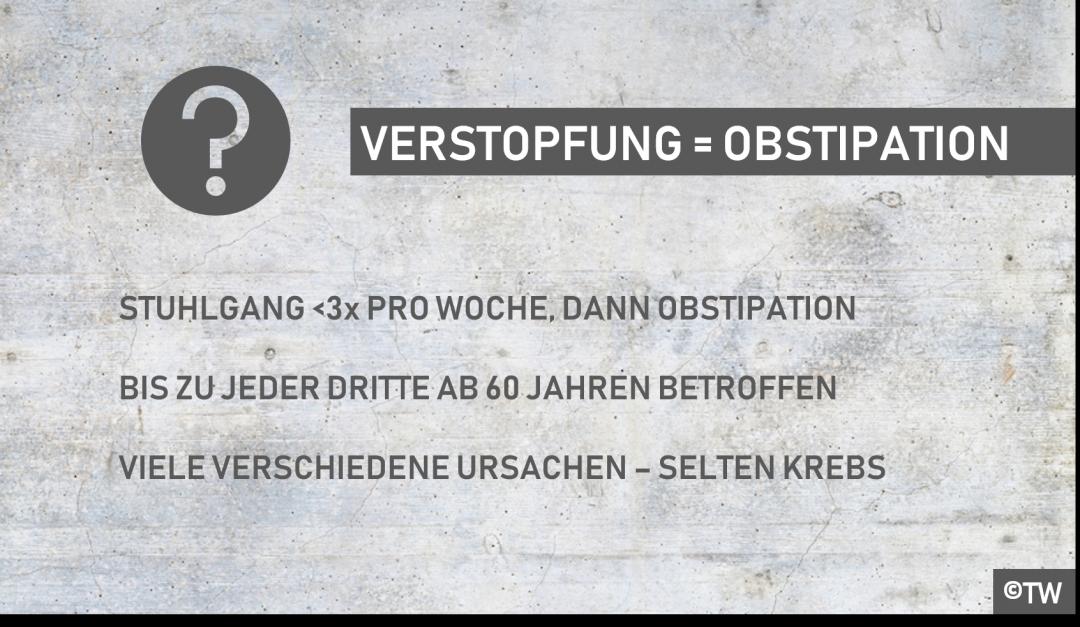 Doktorweiglde Erklärt Verstopfung Bzw Obstipation Häufiges