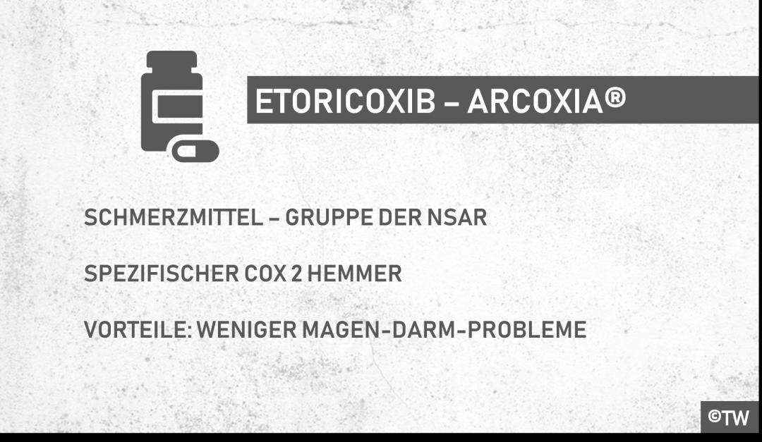 Doktorweiglde Erklärt Arcoxia Wirkstoff Etoricoxib Wirkung