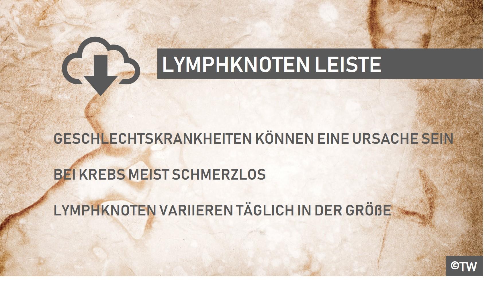 Lymphknoten leiste frau angeschwollene Schwellung in