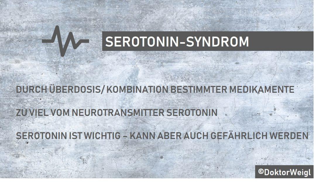 DoktorWeigl erklärt Serotonin-Syndrom – Schüttelkrämpfe
