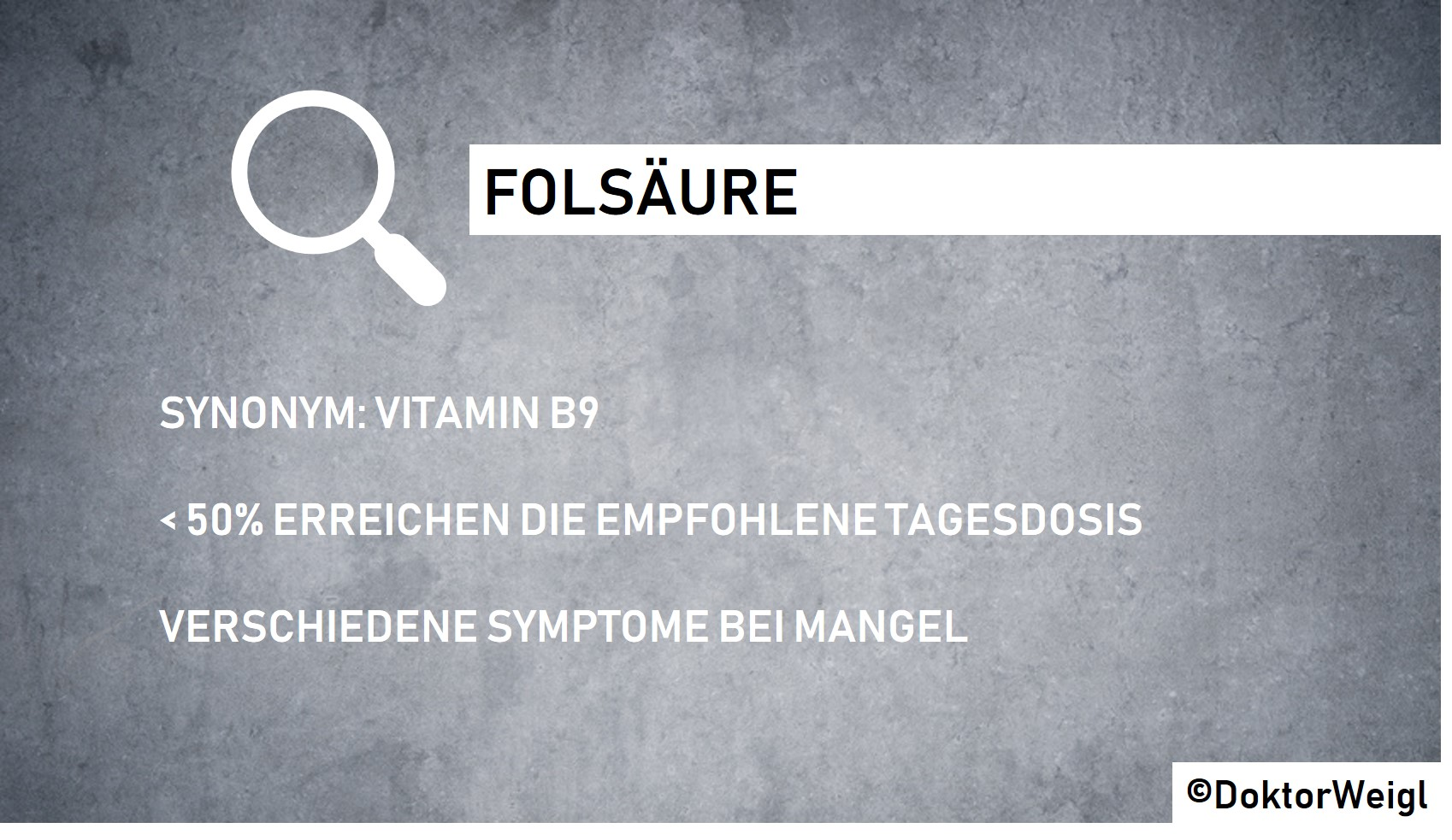 folsäuremangel symptome