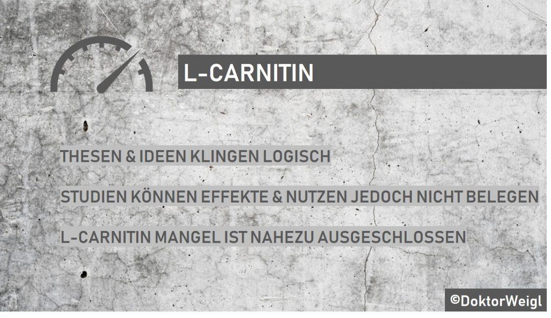 L Carnitin wird zur Fettverbrennung verwendet